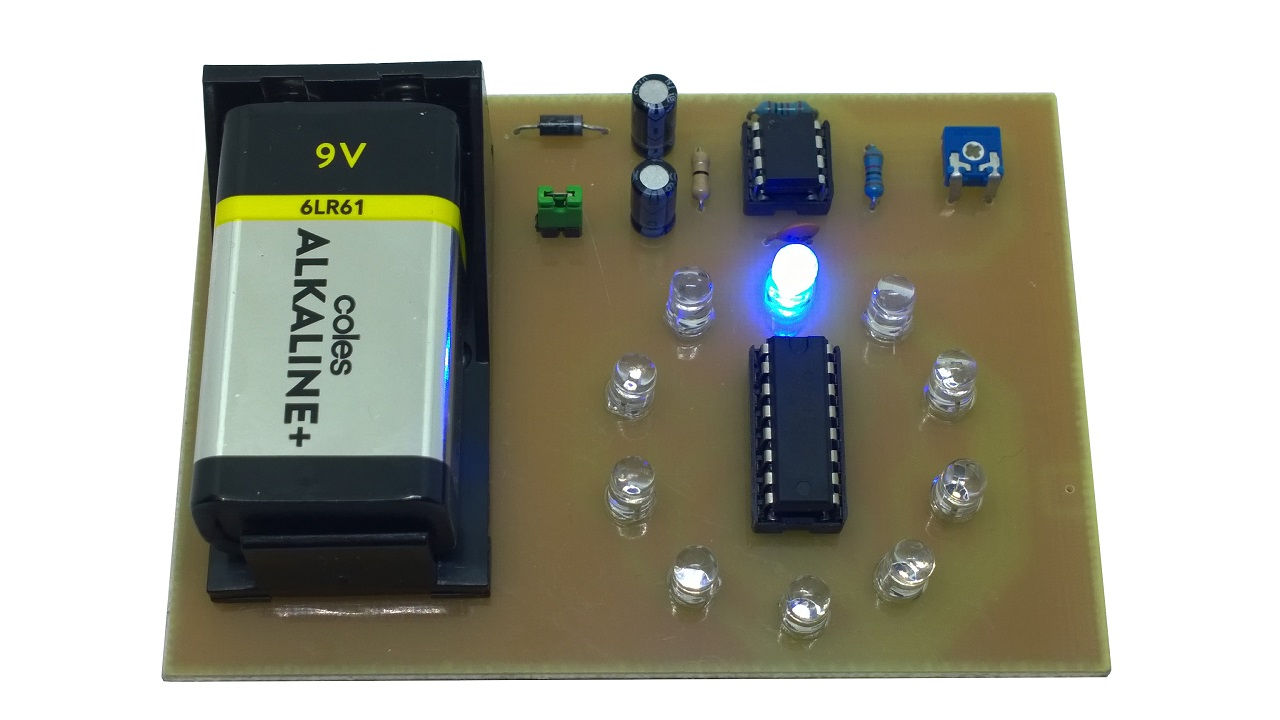 Led Chaser Electronix R Us Electronic Circuits For Beginners